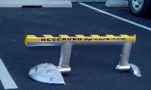 Parking Barrier protects reserved parking spaces.