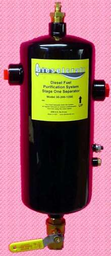 Pre-Filter Separator cleans diesel fuel systems.