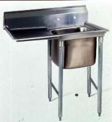 Coved-Corner Sinks optimize sanitation.