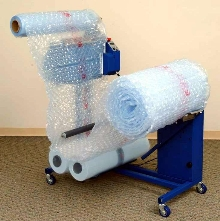 Air Cushion Machine makes bubble material on site.