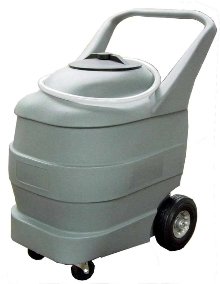 Portable Watering Cart refills forklift batteries.