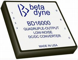 Quad-Output DC/DC Converter has low-noise, 15 W design.