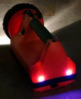 Rechargeable Lantern uses taillight LEDs for visibility.