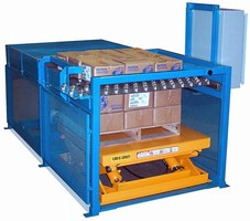 Semi-Automatic Palletizer helps reduce worker fatigue.