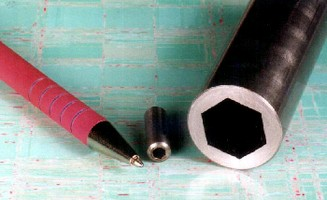 Hex Hole Sleeves can replace spliced shafts and bushings.