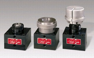 Collet Closer holds parts up to 6 in. diameter.