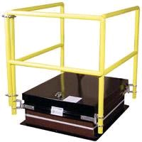 Hatch Railing System satisfies OSHA standard CFR 1910.23.