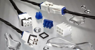 Connector System features splash-proof design.