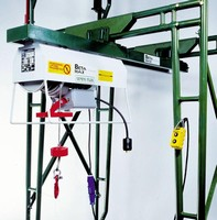Lifting Solution includes hoist, mounting, and basket.