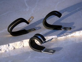 Clamps feature EPDM extrusion cushioning.