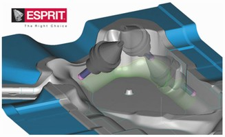 CAM Software facilitates 3- and 5-axis machining.