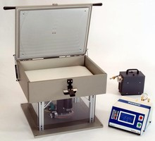 Leak Tester works with sealed bottles and canisters.