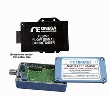 Flow Signal Conditioner provides 4-20 mA or 1-5 Vdc output.