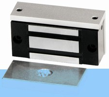 Electromagnetic Lock protects small, low security doors.