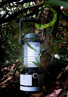 Solar-Powered Lantern has 24 incandescent-white 5 mm LEDs.