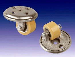 Low-Profile Casters feature precision ball bearing wheels.