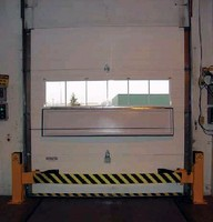 Safety Barrier helps prevent loading dock accidents.