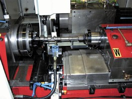 CNC Grinder handles various part features in same machine.