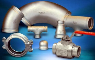Stainless Grooved End Fittings suit mechanical applications.