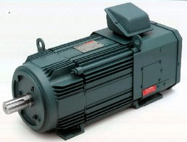 AC Motors feature finned frame construction.