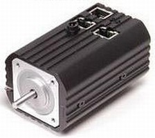 Compact Package combines stepper motor, controller, driver.