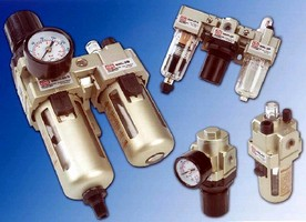 Filter-Regulator-Lubricators feature modular design.