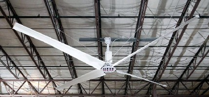 HV/LS Industrial Fan provides consistent air circulation.