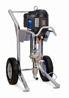 Sprayer includes electronic monitoring system.