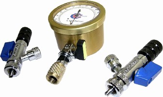 Micron Vacuum Gauge Kit attaches directly to HVAC/R system.