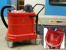 Sump Vacuum features compact, portable design.