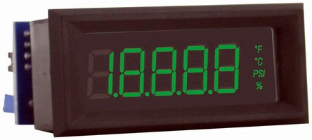 LCD Digital Panel Meter features color display.