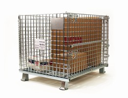Wire Mesh Containers provide high density, bulk storage.