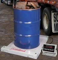 Portable Drum Scale is suited for on-site scrap weighing.