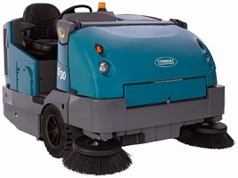 Rider Sweeper is designed for indoor and outdoor jobs.
