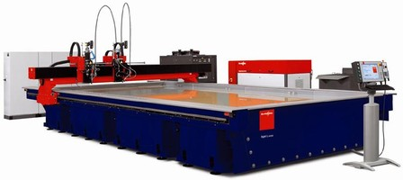 Waterjet Cutter is optimized for handling large sheets.