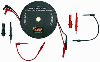 Electrical Circuit Test Set offers retractable test leads.