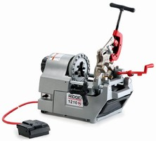 Oil-less Threading Machine operates anywhere without mess.