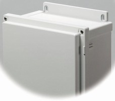 Wall-Mount Enclosures protect electrical equipment.