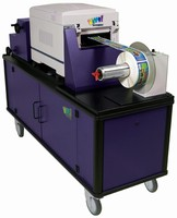 Label Printer attains working speeds up to 3 ips.