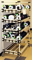 Modular Cart/Rack optimizes wire spool transport, storage.