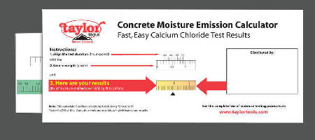 Slide Calculator simplifies concrete moisture test math.