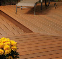 Composite Decking is offered in tropical wood colors.