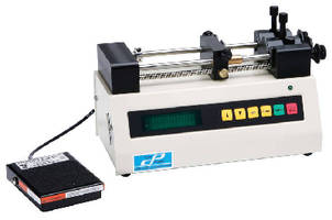 Syringe Pump produces flow rates down to 1.3 pL/min.