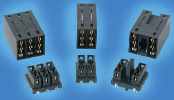 High-Power Connectors suit backplane, midplane interfaces.