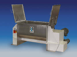 Ribbon Blender enables complete discharge.