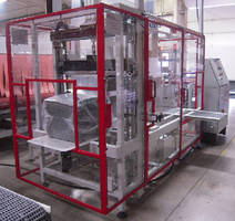 Packaging System bundles products without shrink tunnel.