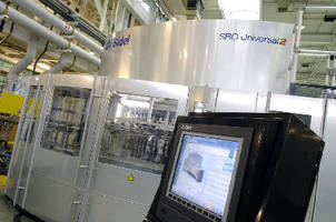Rotary Blowing Machine produces 2,000 bottles/hr per mold.