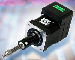 Stepper motor linear actuator has integrated chopper drive for Linear actuator stepper motor driven