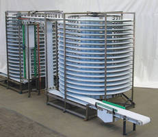 Spiral Conveyor calibrates to adjust to summer temperatures.