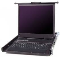 Rackmount LCD Keyboard Drawers suit military applications.
